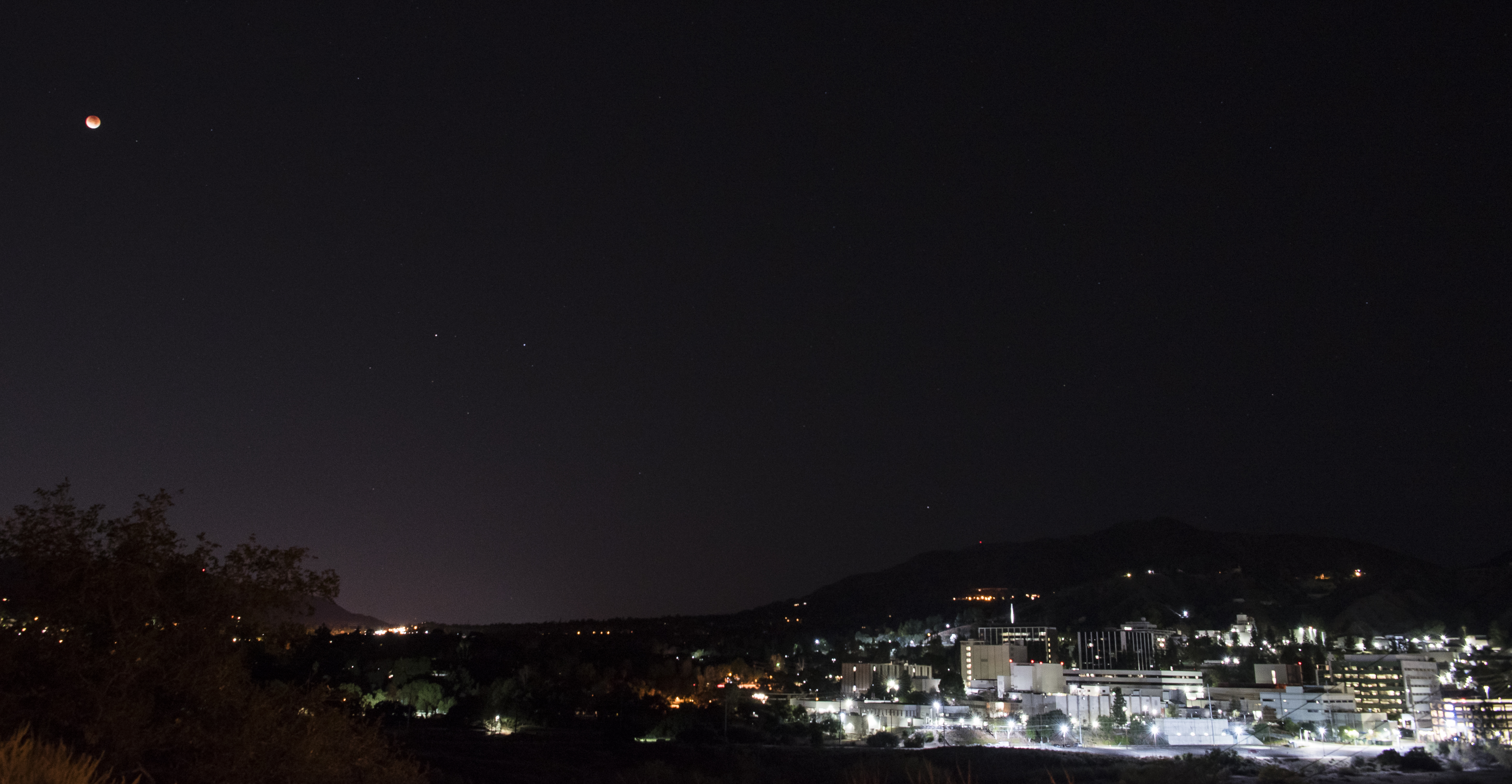 Eclipse Moon Over JPL