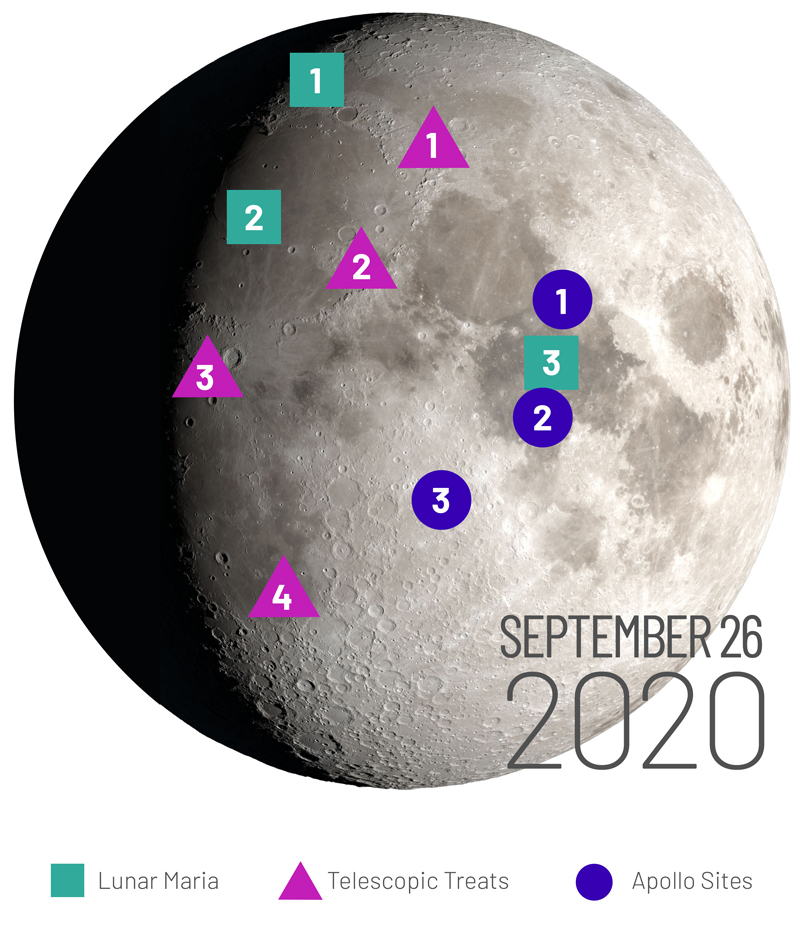 Image of 2020 Highlights Moon Map