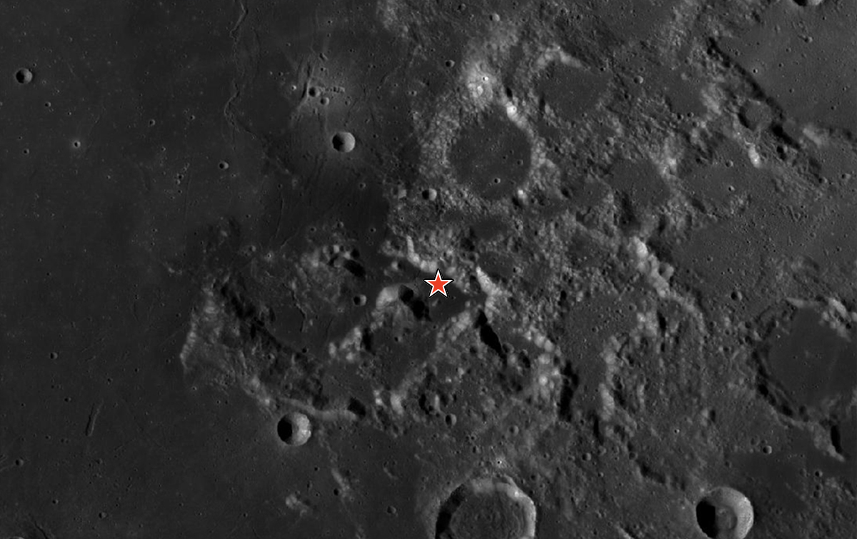 Apollo 17 site of moon landing
