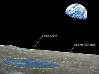 Lunar Craters Named in Honor of Apollo 8