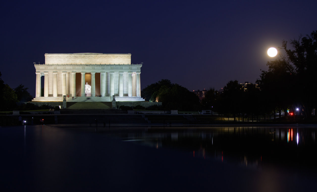 Full Moon over Washington, DC
