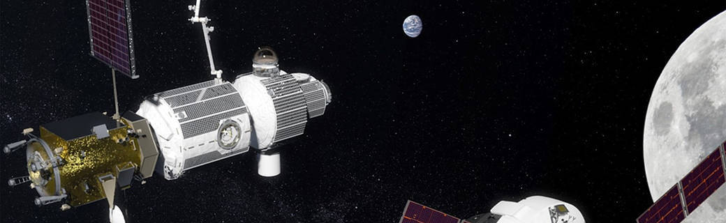 spacecraft near the moon