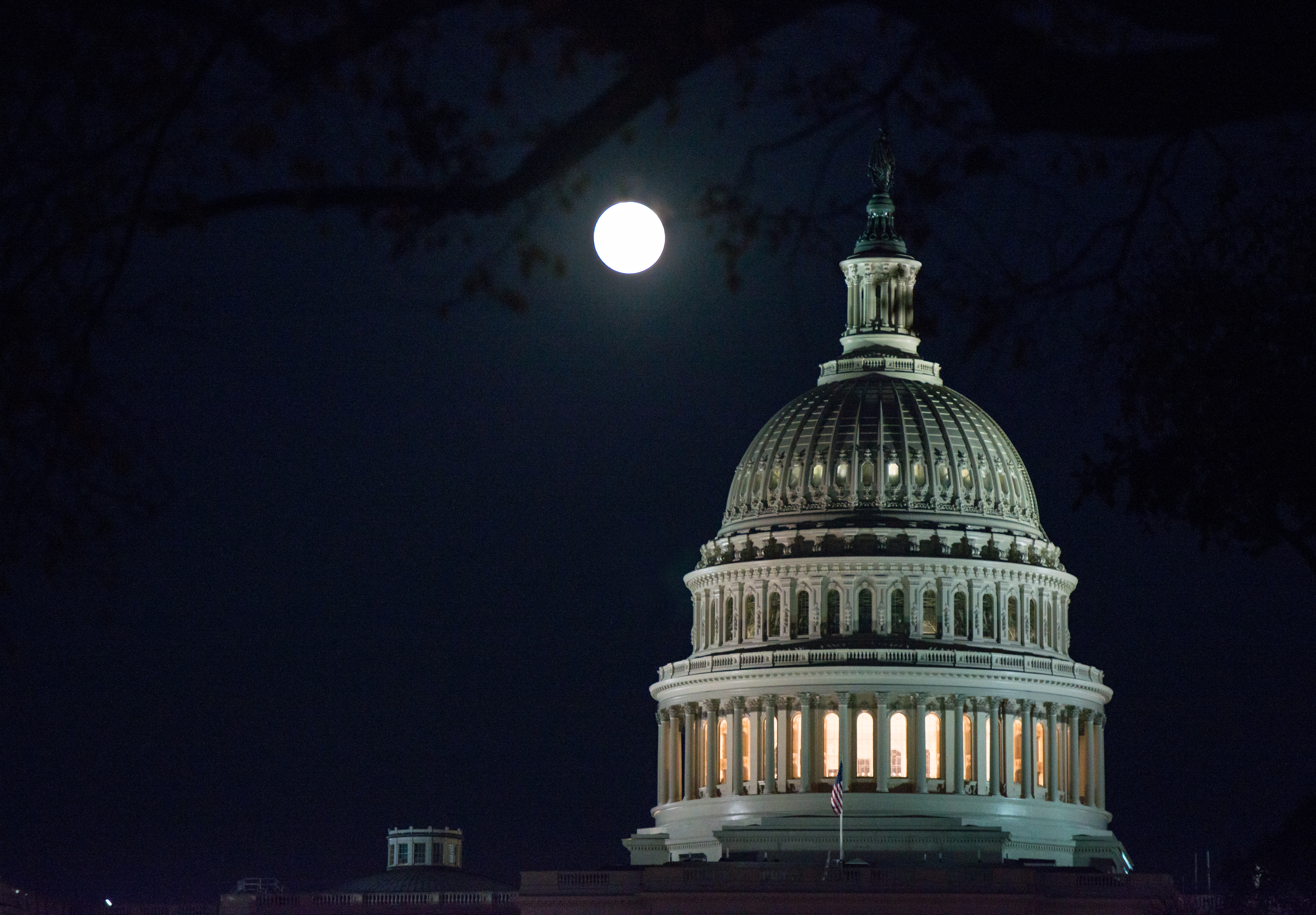 Supermoon over the Capitol