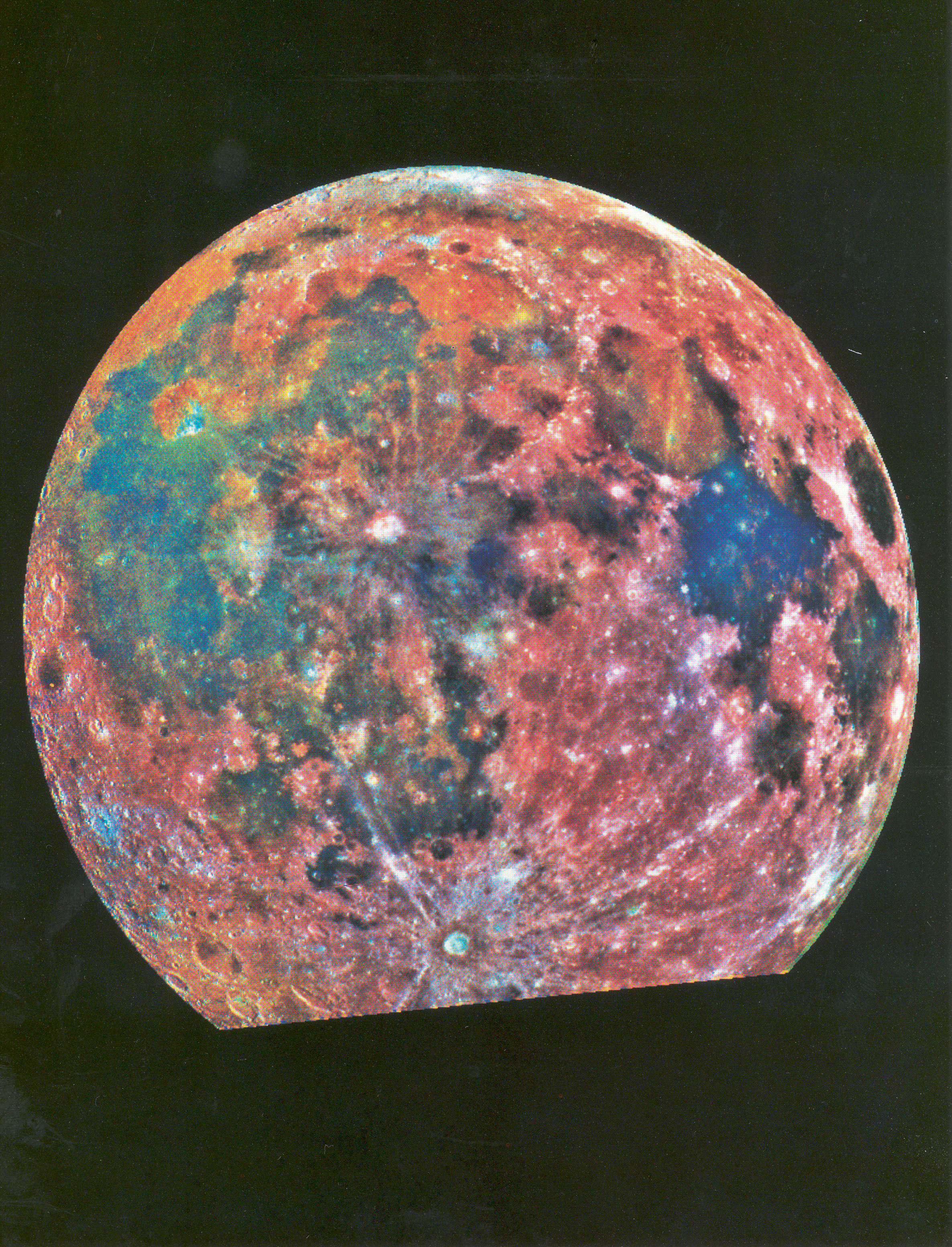 Rainbow colored Moon.