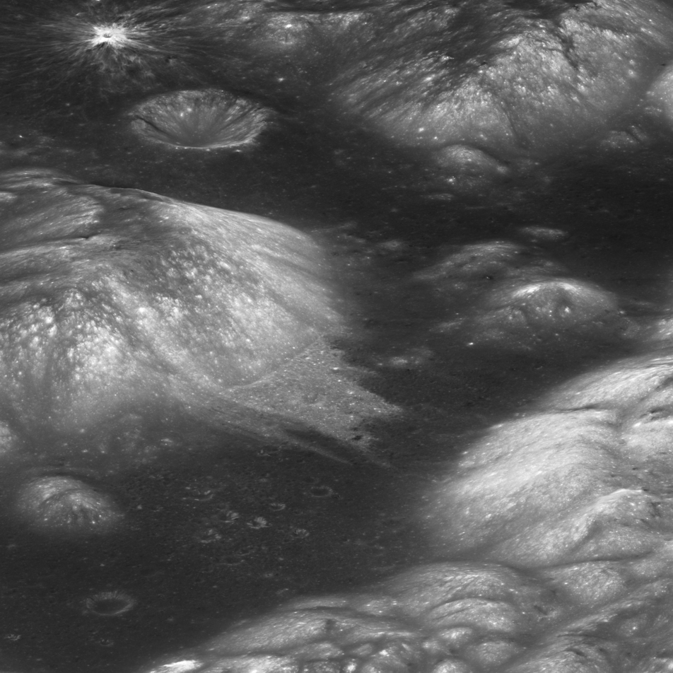 lunar surface with craters and hills