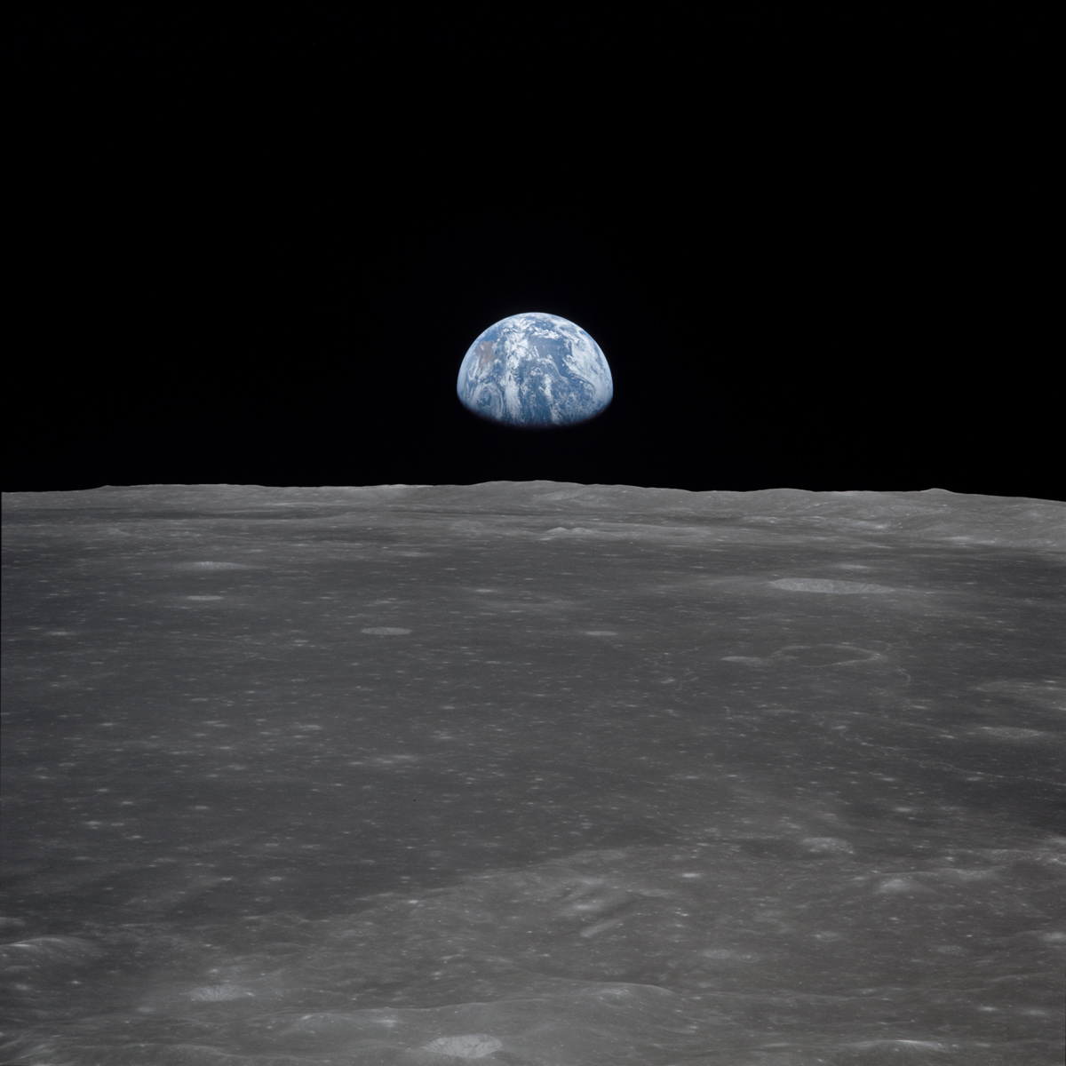 Earth above the Moon's horizon