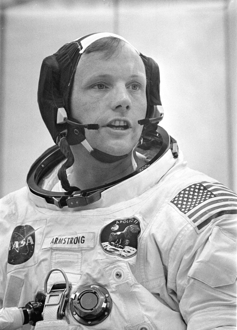 Neil A. Armstrong in his spacesuit