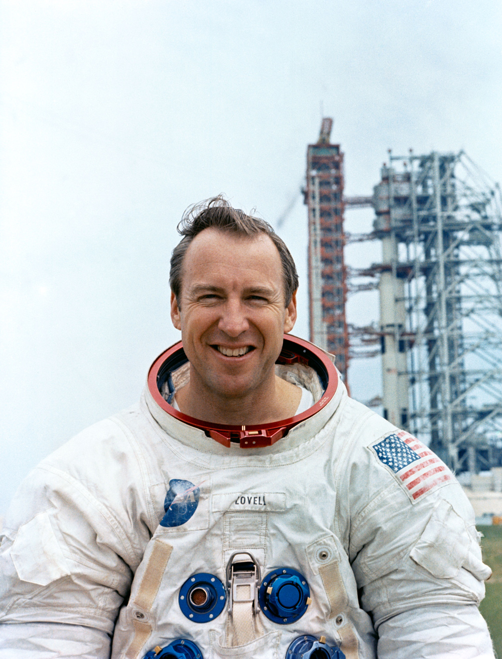 Portrait of astronaut James A. Lovell, Jr.