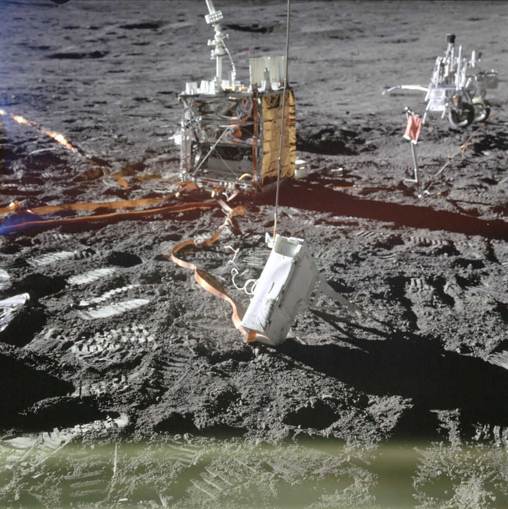 Lunar surface experiments package deployed on moon
