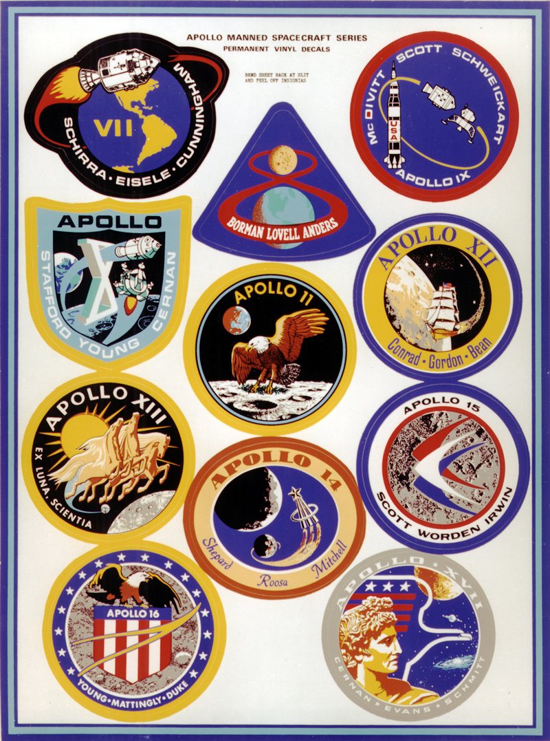 Montage of Apollo mission badges