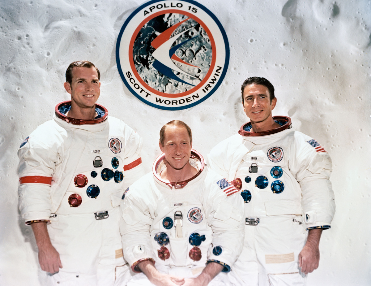 Portrait of three astronauts