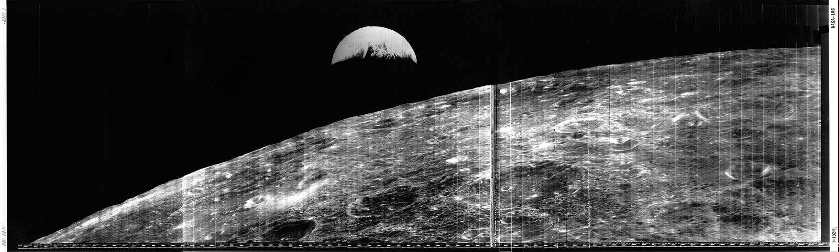 First View of Earth From the Moon and Oblique View of the ...