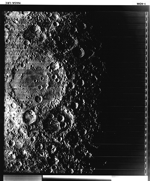 Photo of basin on the moon