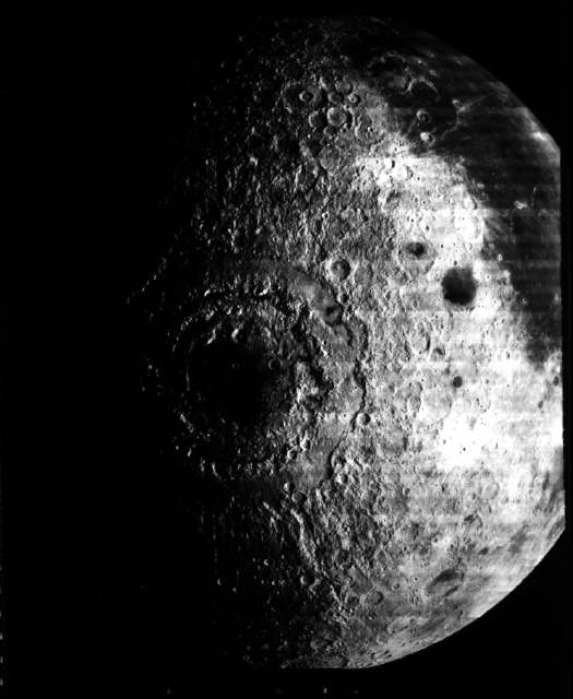 Image of moon with large basin in center