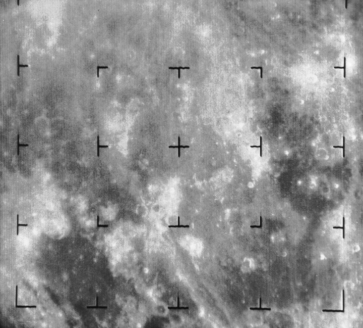 Image of the surface of the moon