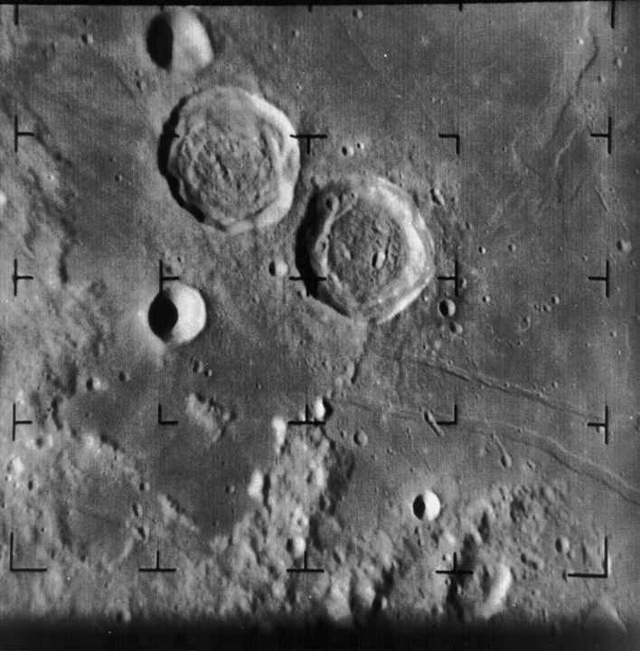 Two large craters on the moon