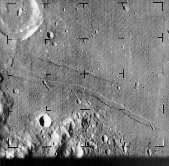 Image of the moon's surface
