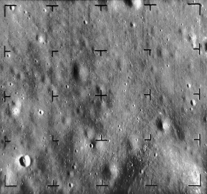 Image of the Sea of Tranquillity on the moon