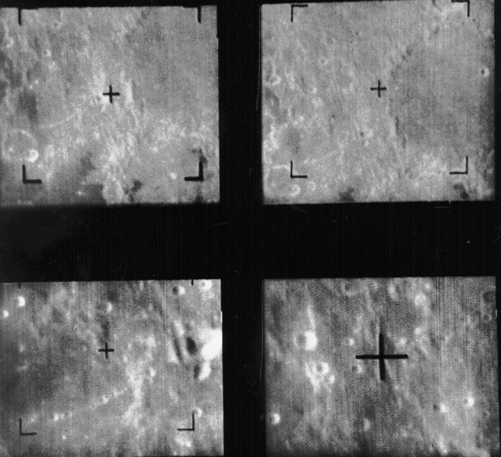 Four images of the moon's surface