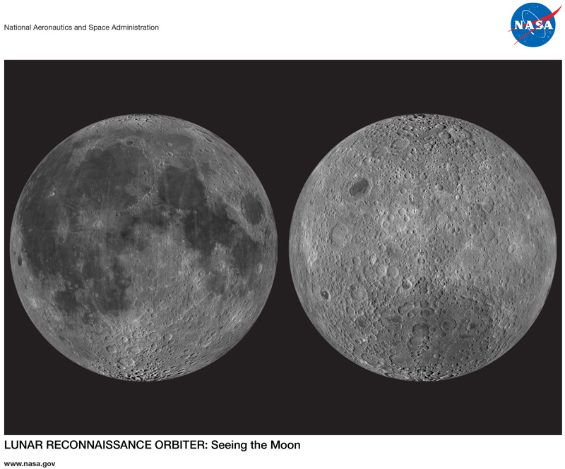 First page of the LRO: Seeing the Moon lithograph