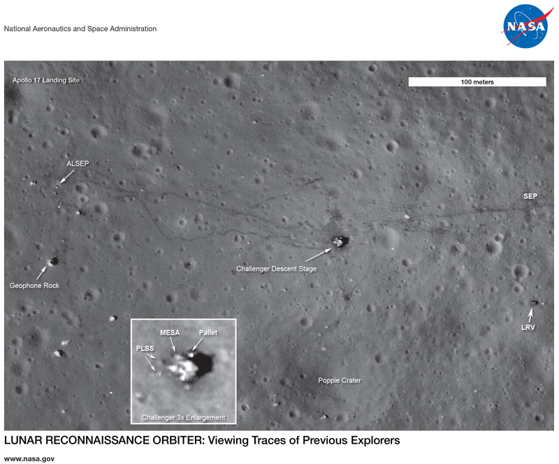 First page of the LRO: Apollo 17 Landing Site lithograph