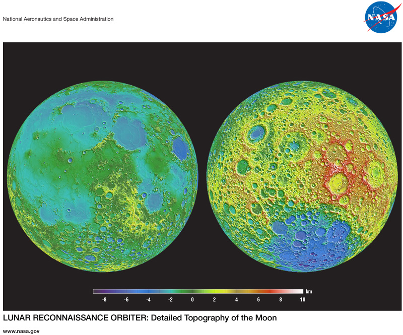 First page of LRO: Lunar Topography Lithograph