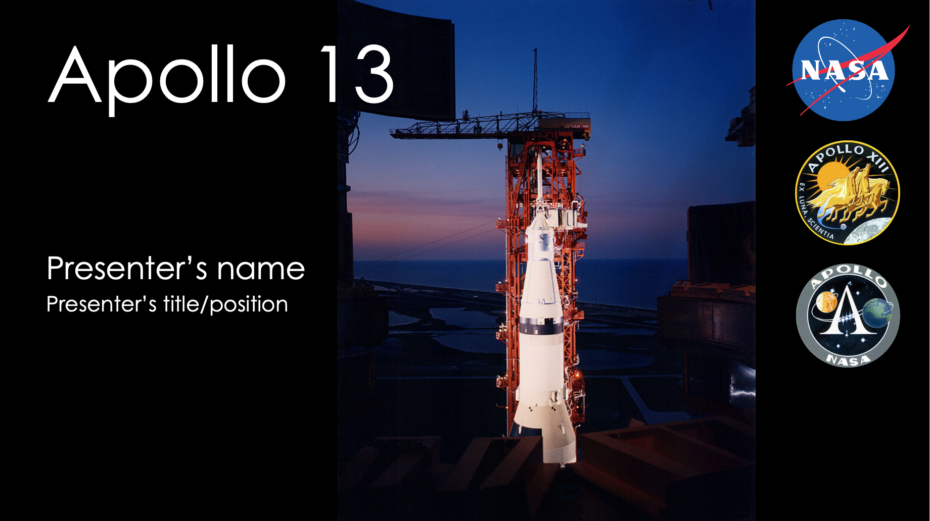 Powerpoint slides about Apollo 13