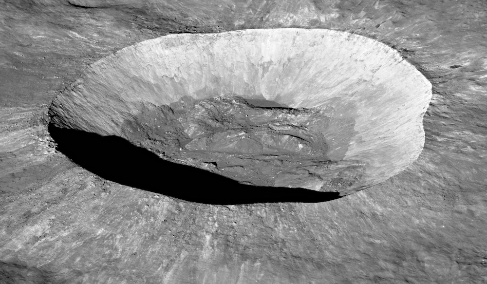 deep crater on the Moon