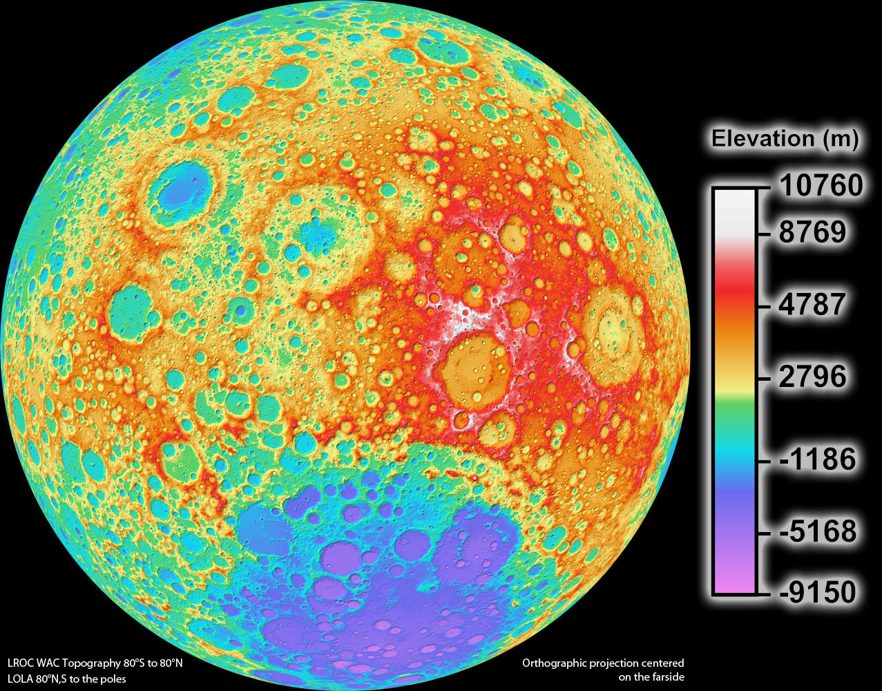 High resolution topographic map of the moon moon nasa science high resolution enlarge publicscrutiny Image collections