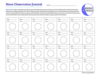 Moon Observation Journal