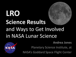 First slide of presentation on LRO science results